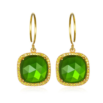 Paris Cushion Cut-Lime Green Gold