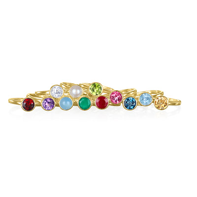 Birthstone Rings-Gold