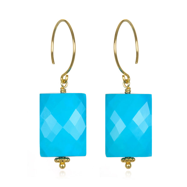Turquoise Sadie Earring Gold