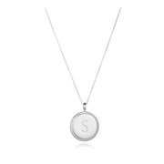 round charm necklace silver