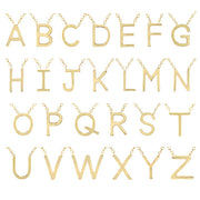 Letter Initial Necklace Gold