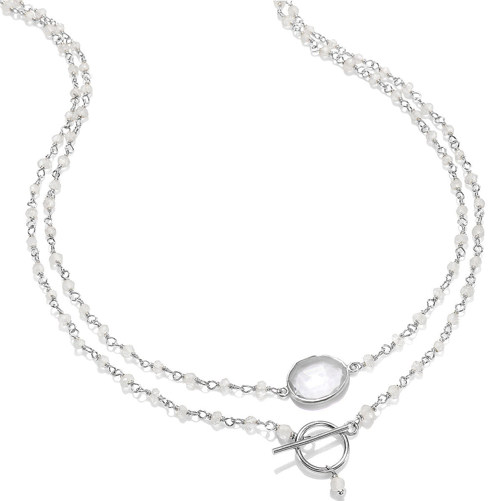 Mandello Necklace-Moonstone Silver