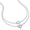 Mandello Necklace-Topaz Silver