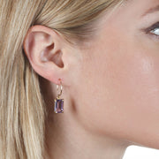 Chatham Earring-Pink Amethyst Silver