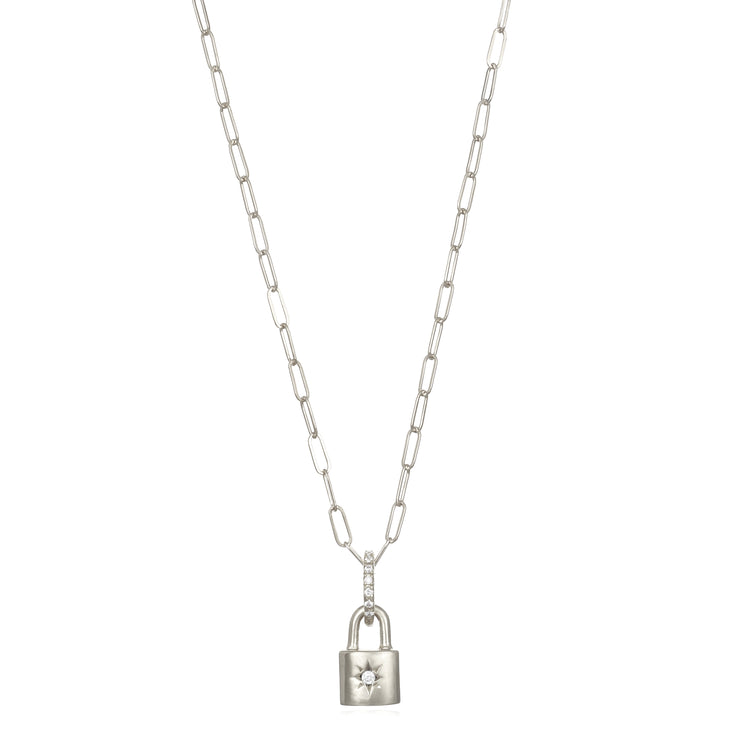 Starburst Padlock Necklace