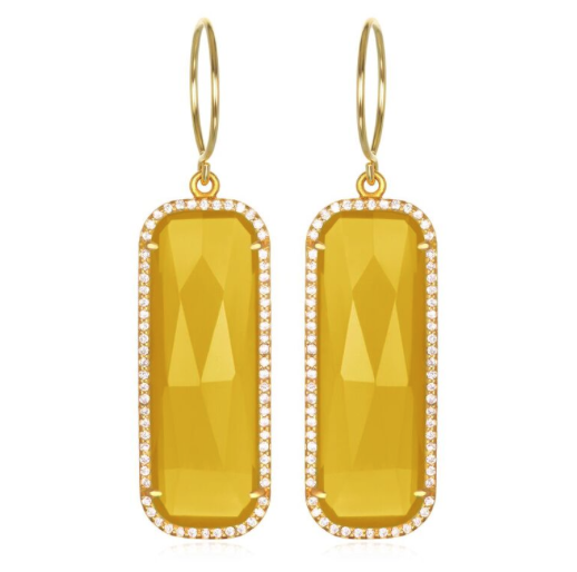 Paris Grand Earring - Yellow Clear Gold