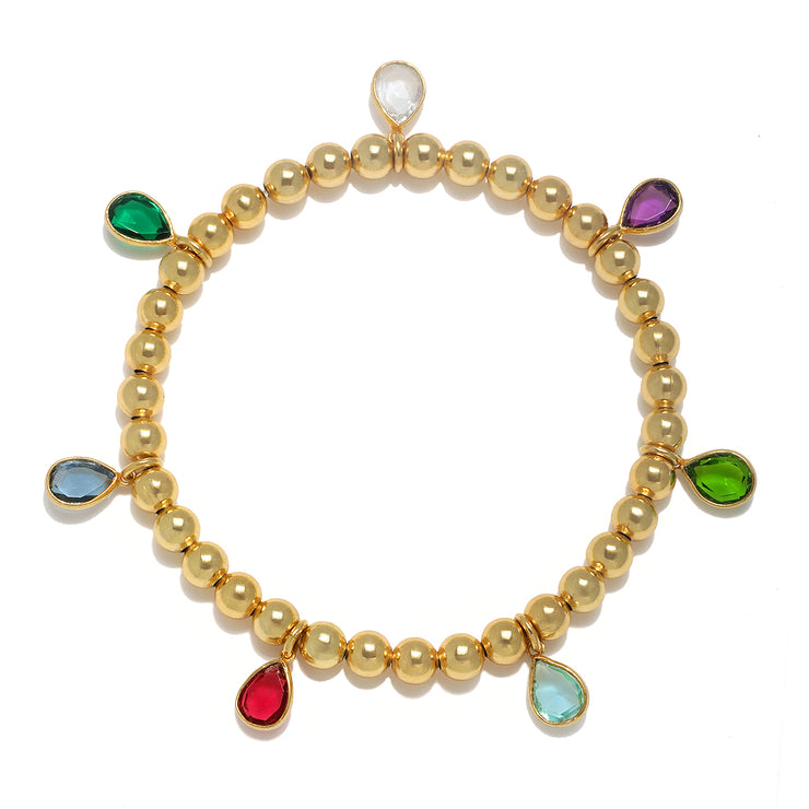 NEW!  Teardrop rainbow bracelet