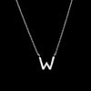 Diamond Initial Necklace - W
