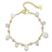 NEW! Wildflower Bracelet Moonstone & Pearl