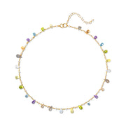Wildflower Necklace-Pastel Gems & Pearls