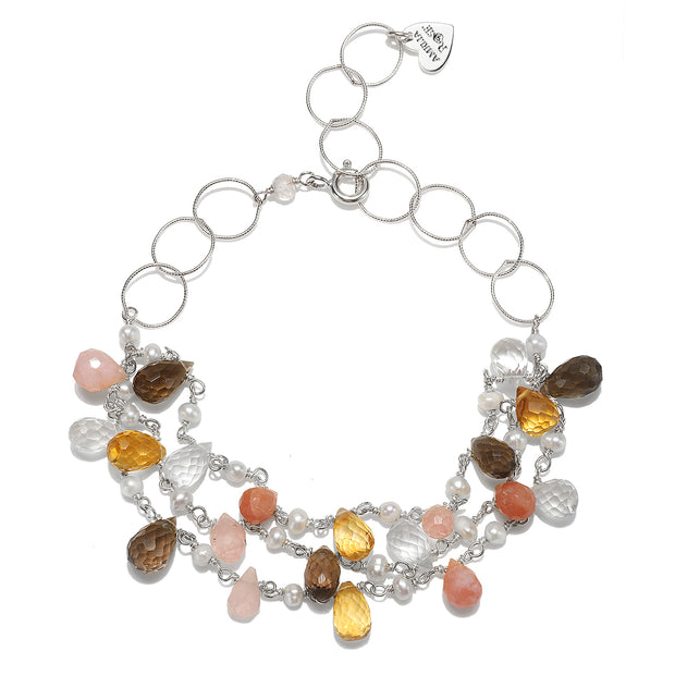 Wildflower Statement Bracelet-Opal & Citrine