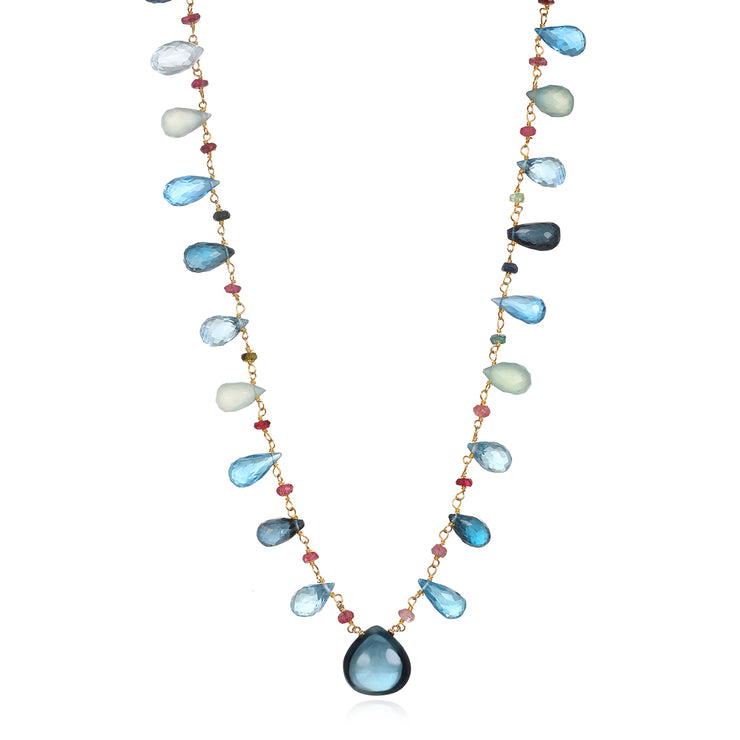 Wildflower Statement Necklace-Topaz