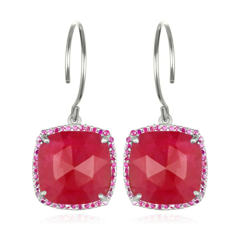 Paris Cushion Cut-Ruby Silver
