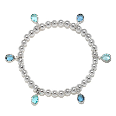 Teardrop blues bracelet silver