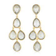Green Amethyst Chandelier Earring