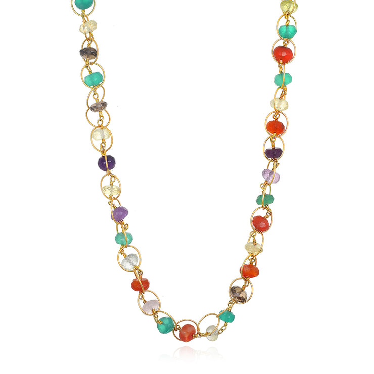 Gemstone circle necklace