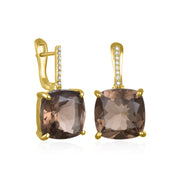 Diamond Cushion Cut Earring