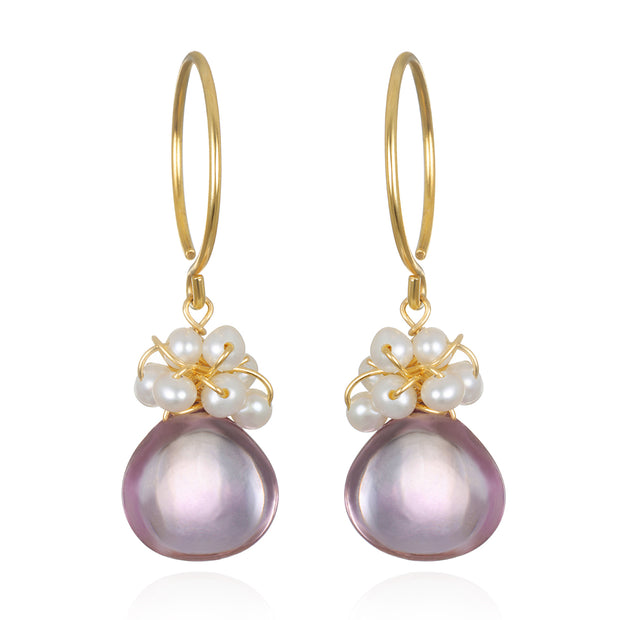 Wildflower Pearl Earrings