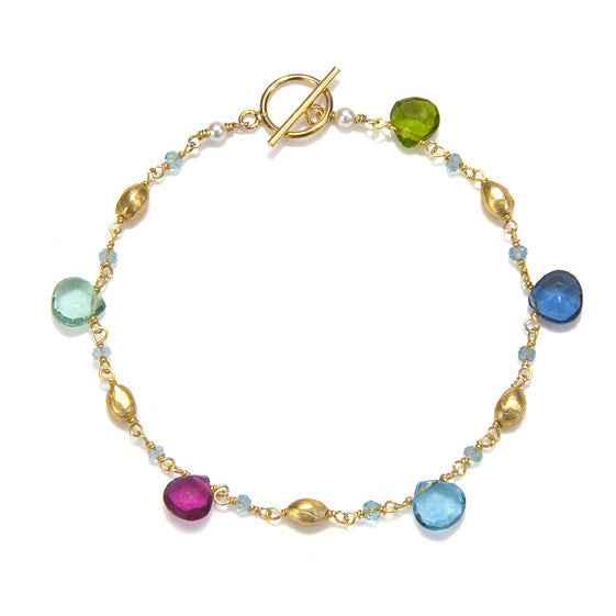 Cabo Quartz Bracelet-Multi Color Gold