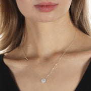 Pavé Diamond Initial Necklace