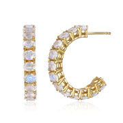 NEW! Gemstone Hoops Gold