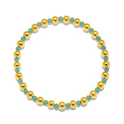 Aqua Stretchy Bracelet Gold