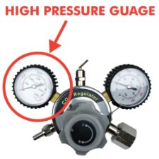 High Pressure Gauge for Regulator 0-3000 psi