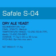 Yeast - S-04 Safale