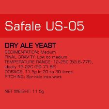 Yeast - US-05 Safale