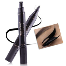 Load image into Gallery viewer, Ms. Rose Double Ended Waterproof Liquid Eyeliner With Makeup Stamp