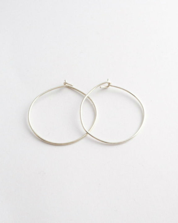 Plain Hoops - Sterling Silver