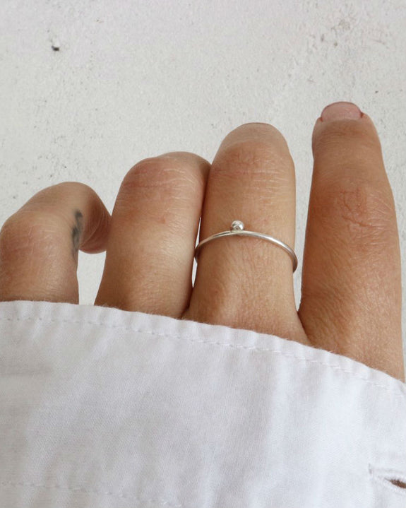 Argent Silversmith Top Dot Ring in Sterling Silver at Heyday Store Adelaide