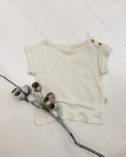 Bourrache Linen T-Shirt - Almond Milk - LAST SIZE (24)!