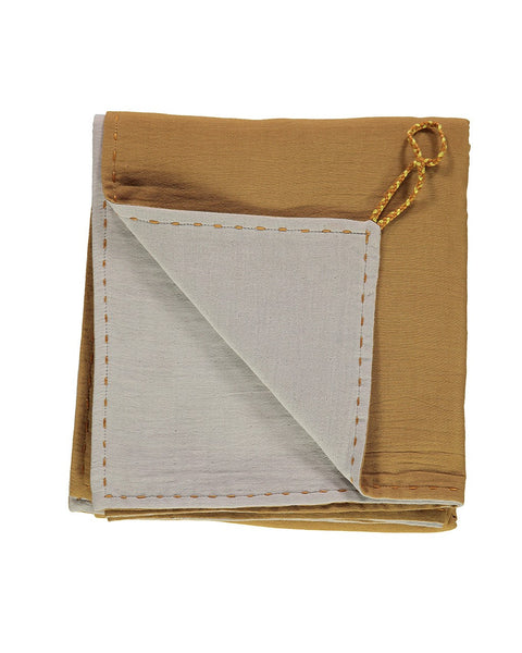Double Layer Reversible Swaddle/Blanket - Ochre/Ash
