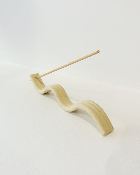 Curves Incense Burner - White