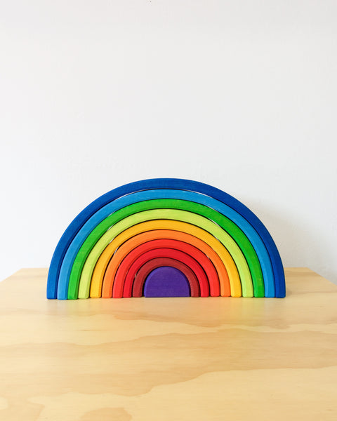 Grimm's Stacking Tunnel - Rainbow - Large -  Heyday Store Adelaide