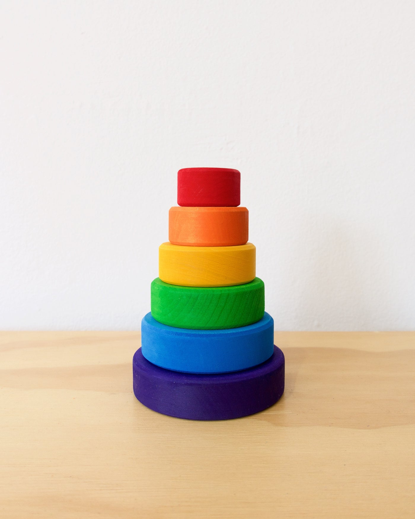 Grimm's Conical Tower - Rainbow - Small Wooden Toy - Heyday Store Adelaide