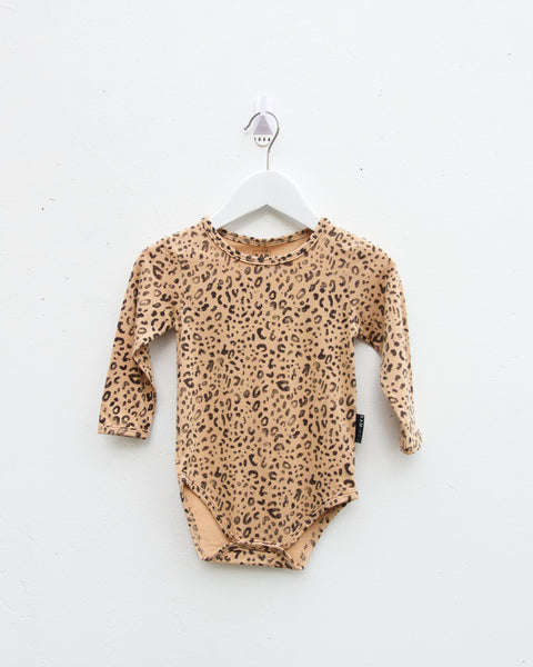 Animalia Long Sleeve Onesie - Honey - LAST SIZES (0-3M & 3-6M)!