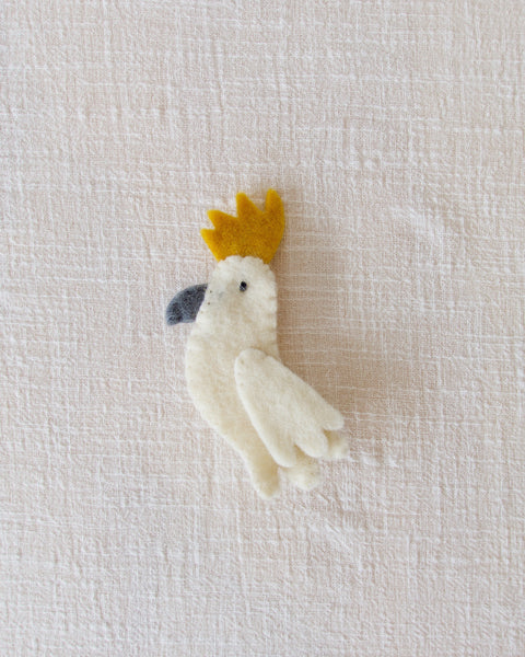 Cockatoo finger puppet