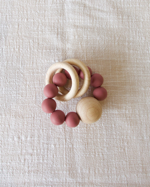 Saturn Teether - Rose
