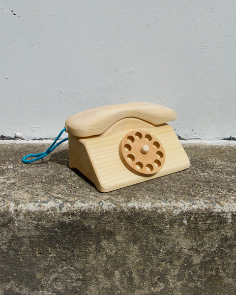 Wooden Telephone - Natural
