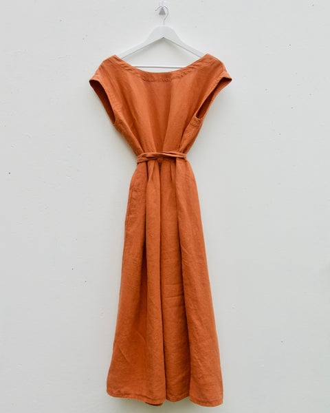 Naoko Reversible Wrap Dress - Ginger