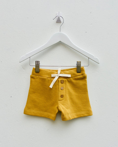 Button Shorts - Gold - LAST TWO (6-12M & 1Y)!