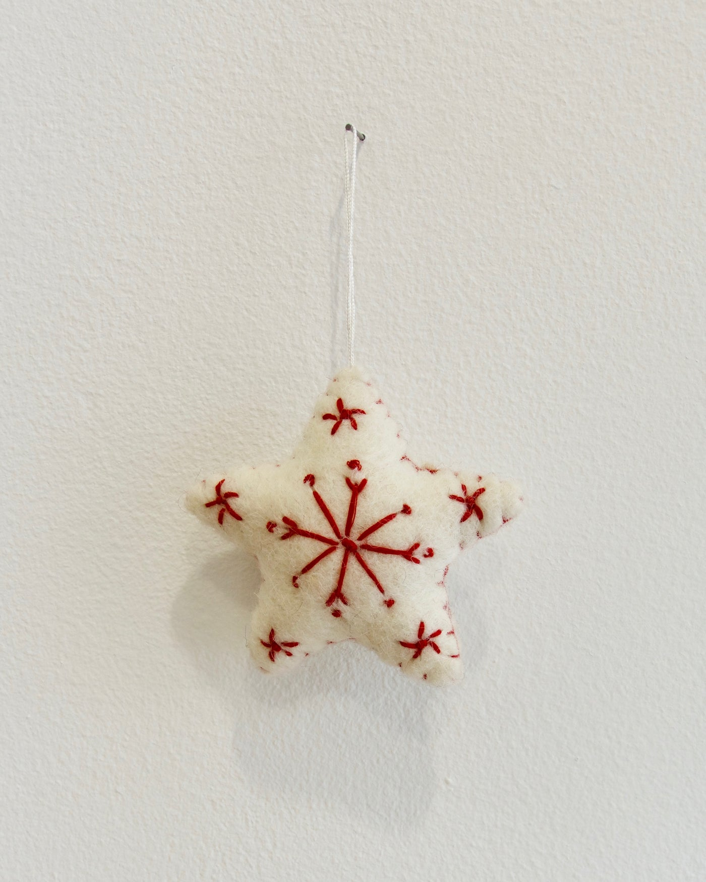 Star Christmas Ornament - White
