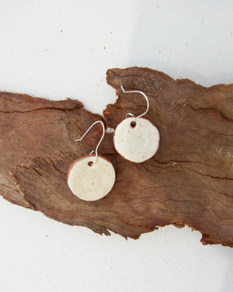 Terracotta Mini Circles - White