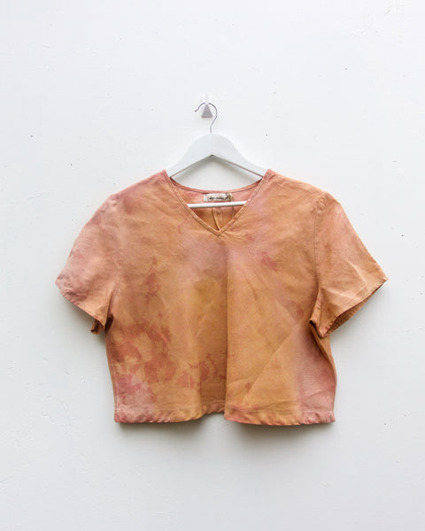 Plant Dyed Top - Madder & Box Mistletoe