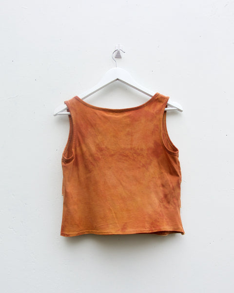 Plant Dyed Ruffle Top - Madder & Brittle Gum