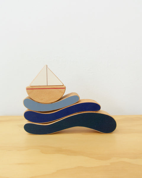 Boat and Waves Stacking Toy