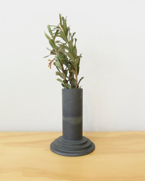 Monument Stem Vase - Medium - Charcoal