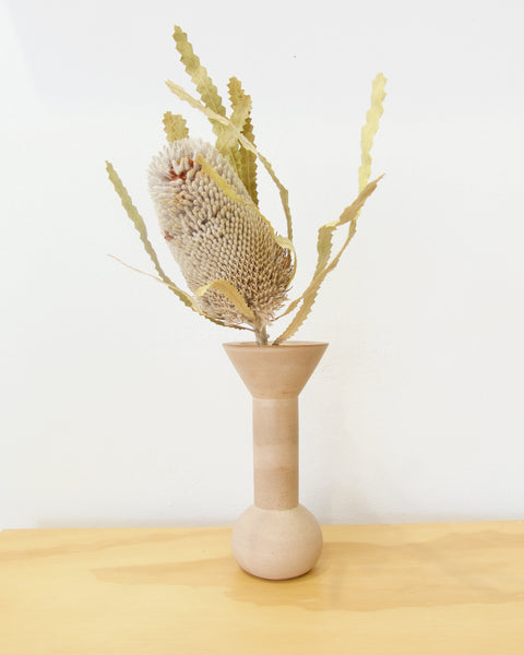 Monument Stem Vase - Large - Dusty Pink
